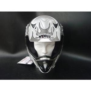モトクロスヘルメットフレイムス シルバー/シルバー|buhinyakw