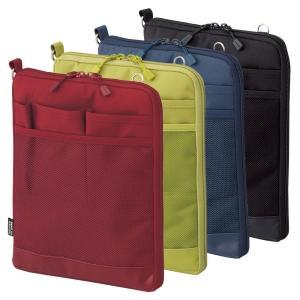 タブレットPCに優しい起毛生地ポケットが付いた薄型バッグインバッグ。  *ショルダーベルトは別売です...