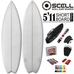 ショートボード 5'11 クリアセットサーフボード SCELL サーフィン