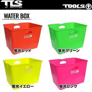 TOOLS WATER BOX 蛍光 全4色 サーフィン アウトドア フレキシブル ソフトバケツ ウェットスーツ 着替え用 WATER BOX 海水浴
