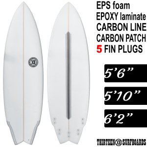 13SURF ショートボード 5'6 5'10 6'2 EPS ホワイト フィン附属 サーフボード ...