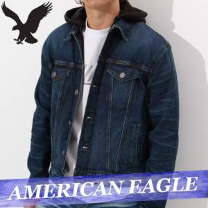 アメリカンイーグル デニムジャケット Gジャン ジージャン メンズ クリーム XS〜XXXL アウター 新作 AEO|bumps-jp