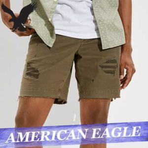 アメリカンイーグル  ショートパンツ/ハーフパンツ/短パン  チノパン/カラーパンツ  メンズ  スリム  8インチ  ボトムス 新作 AEO|bumps-jp