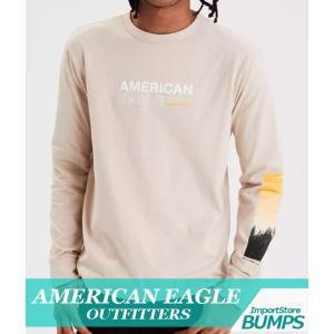 アメリカンイーグル  ロングTシャツ  ロンT  長袖  丸首  メンズ  グラフィック  XS〜XXXL  カジュアル  新作  AEO bumps-jp