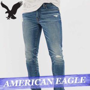 アメリカンイーグル  ジーンズ/デニムパンツ/ジーパン  スキニー  メンズ  スタックド  ボトムス 新作 AEO bumps-jp
