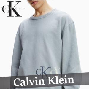 カルバンクライン  トレーナー  スウェットシャツ  メンズ  丸首  縦ロゴ  コットン  XS〜XXL  新作  CK  CALVIN  KLEIN|bumps-jp