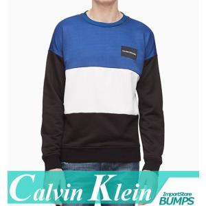 カルバンクライン  トレーナー  スウェットシャツ  メンズ  丸首  オーバーサイズ  カラーブロック  ロゴ  XS〜XXL  新作 CK|bumps-jp