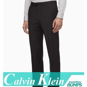 カルバンクライン  スラックス/ドレスパンツ  メンズ  チャコール  無地  スリムフィット  新作 CK bumps-jp
