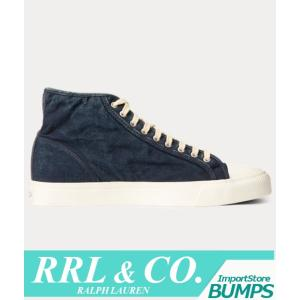 RRL ダブルアールエル  スニーカー  シューズ  メンズ  メイポート  インディゴ  キャンバス  靴 ラルフローレン 新作|bumps-jp