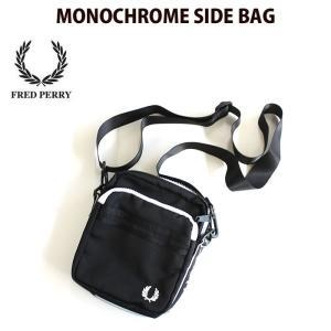 フレッドペリー FRED PERRY ミニショルダーバッグ MONOCHROME SIDE BAG ...