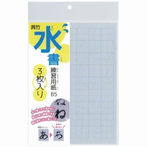 【ネコポス対応〇】呉竹 水書練習用紙 B5 マス目入り 3枚入り【KN37-55】|bun2bungu
