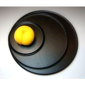 BUNACO/ブナコ 満月をイメージした円形トレイ・Full Moon_L #1111  (black)|bunaco-select