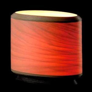 BUNACO/ブナコ Table lamp/楕円筒のランプは灯りを通すと神秘的な赤に bunaco-select