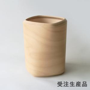 BUNACO/ブナコ ダストボックスTwist3/四角柱をひねった独特フォルム ・L d8211(color:natural)|bunaco-select