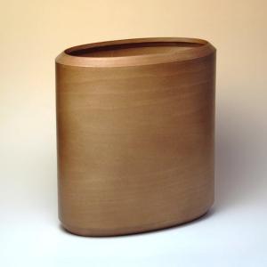 BUNACO/ブナコ ダストボックス/お部屋に可愛らしく収まるオーバルタイプ(caramel brown)|bunaco-select