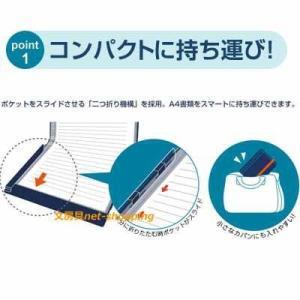 キングジム 二つ折りクリアーファイル コンパックCOMPACK 10ポケット 5896H|bunbogu-netshopping|03