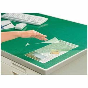 コクヨ デスクマット軟質Wエコノミー 塩ビ製 緑 透明 下敷き付 汎用 マ-1200NG bunbogu-netshopping