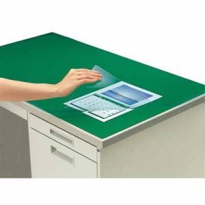 コクヨ デスクマット軟質W(非転写) グリーン 透明 下敷き付 1000×600デスク用 マ-406NG|bunbogu-netshopping