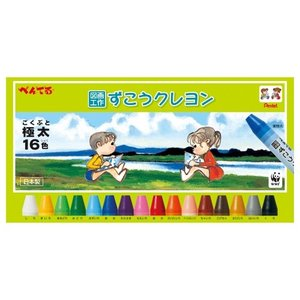 ぺんてる ずこうクレヨン 16色 PTCG1-16の商品画像