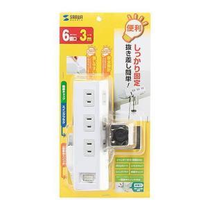 メール便対応不可 サンワサプライ 便利タップ クランプ固定式 TAP-B53W|bunbouguyasan-honpo