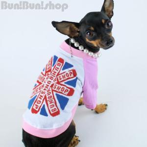 UK FLAG2 犬服ラグランTシャツ|bunbunshop