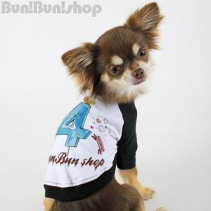 新ナンバー4 犬服ラグランT|bunbunshop