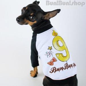 新ナンバー9 犬服ラグランT|bunbunshop