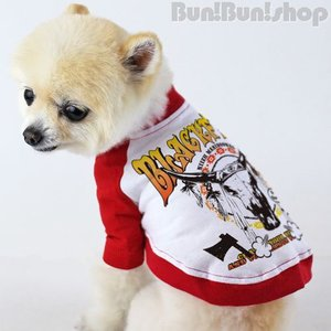 BLACK FEET2 犬服ラグランTシャツ|bunbunshop