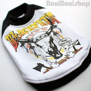 BLACK FEET2 犬服ラグランTシャツ|bunbunshop|02
