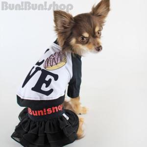 LOVEドーナツ 犬服ラグランTシャツ|bunbunshop