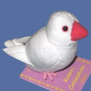 【セキグチ】ぬいぐるみクリップ(白文鳥)|bunchoya