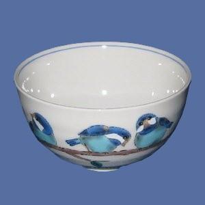 【青郊窯】九谷焼飯碗 山雀(やまがら)|bunchoya