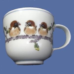 九谷焼マグカップ 丸々雀|bunchoya