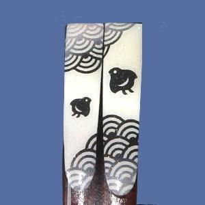【イシダ】『和柄の箸』 福千鳥 23.0cm|bunchoya