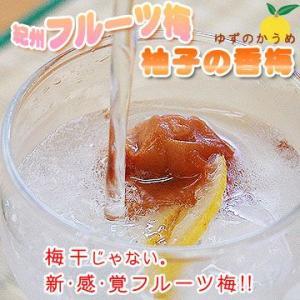紀州南高フルーツ梅干し 柚子の香梅(ゆずのかうめ)90g 南高梅 うめぼし (fy1)|bundara