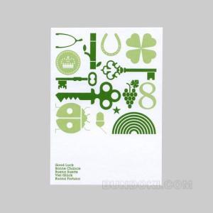 ロンドンのグラフィックデザイナーpresent & correctによるメッセージカードです...