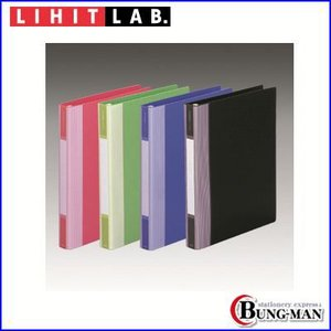 LIHIT LAB リフィルバインダーMTL G3902-6 黄緑    6冊組み|bung-man