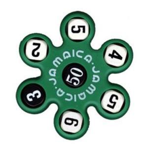 トモエそろばん ジャマイカ 緑 (JAMAG) 黒いサイコロの数字の合計を5つの白いサイコロの数字でつくる計算ゲーム【算盤】|bungle