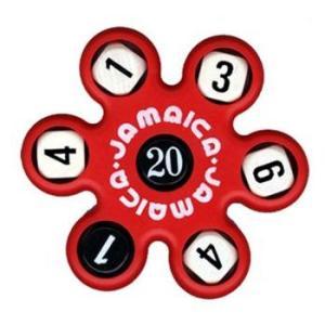 トモエそろばん ジャマイカ 赤 (JAMAR) 黒いサイコロの数字の合計を5つの白いサイコロの数字でつくる計算ゲーム【算盤】|bungle