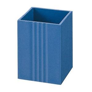 【小】プラス/リサイクルシリーズ・ペンスタンド(TM-401・15-211) ブルー 食品トレーをリサイクルして作りました/PLUS|bungle