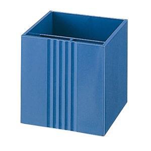 【大】プラス/リサイクルシリーズ・ペンスタンド(TM-402・15-213) ブルー 食品トレーをリサイクルして作りました/PLUS|bungle