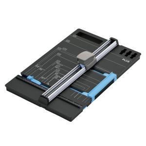 【本体】プラス/スライドカッター ハンブンコ A4用(PK-813・26-470)A3をA4に半切可能 かんたんに半分に切れるWゲージ搭載/PLUS|bungle