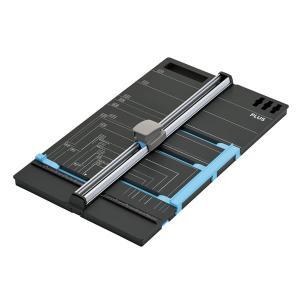 【本体】プラス/スライドカッター ハンブンコ A3用(PK-811・26-471)画用紙四ツ切を八ツ切に半切可能 かんたんに半分に切れるWゲージ搭載/PLUS|bungle