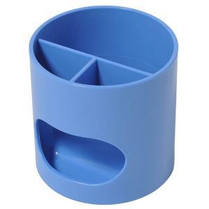 PLUS/ペンスタンド WP-110N ブルー 実用性と機能性から生まれたデザイン。ウィッティ・パーティが机の上を楽しく彩る。 プラス|bungle