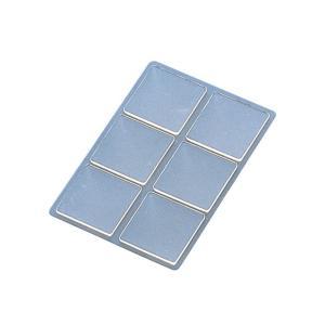 プラス/粘着ピン<リピタック>(AT-130AU・30-903) クリアー 6片入り 30mm角 貼ってはがせて、また貼れる、掲示用両面粘着シート/PLUS|bungle