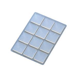プラス/粘着ピン<リピタック>(AT-120AU・30-904) クリアー 12片入り 20mm角 貼ってはがせて、また貼れる、掲示用両面粘着シート/PLUS|bungle