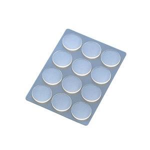 プラス/粘着ピン<リピタック>(AT-020AU・30-905) クリアー 12片入り 直径20mm 貼ってはがせて、また貼れる、掲示用両面粘着シート/PLUS|bungle
