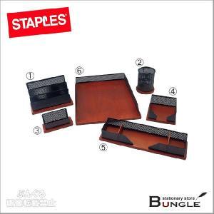 ステープルズ/机上収納6点セット(23614-JP・394-102) 黒&赤 海外発の収納用品でデスク周りをコーディネート!|bungle