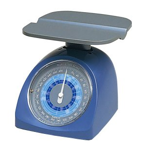 プラス/レタースケール(NO.320・88-990) ブルー 最大秤量500g 最小目盛り2g 重さと同時に郵便料金が分かる/PLUS|bungle