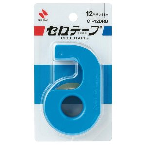 ニチバン/セロテープ 小巻 カッターつき(CT-12DRB)ブルー 12mm幅 長さ11m 刃の両端にガード付き 手でも切れる NICHIBAN|bungle